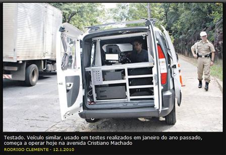 """Belo Horizonte: """"Radar-surpresa"""" começou a multar desde o dia 08 de junho"""