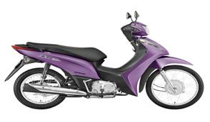 Biz 125 modelo 2012: O modelo, que teve seu design recentemente renovado e conta com tecnologia flex, está disponível em novas cores na versão 2012