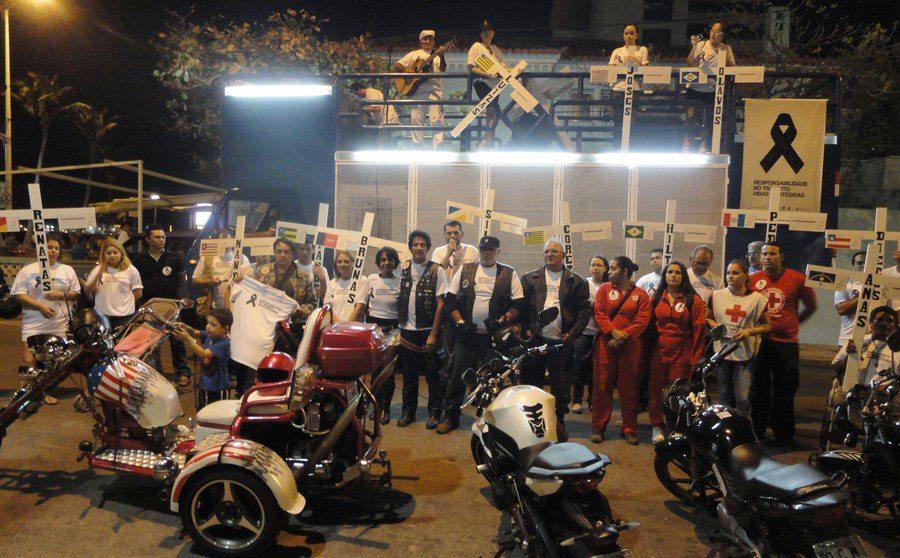 Motociclistas do Ceará realizam manifestação contra violência no trânsito