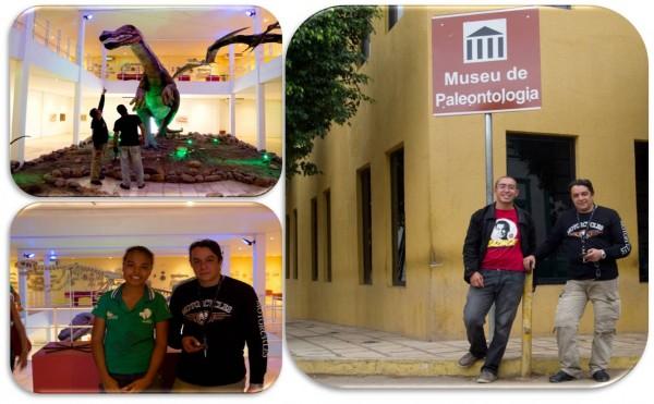 Santana do Cariri(CE) - A Guia Gabriela (abaixo esq.) nos apresentou o acervo.
