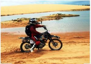 O motocross, aliado ao Kite Surf fazem dessa viagem mais que um passeio.