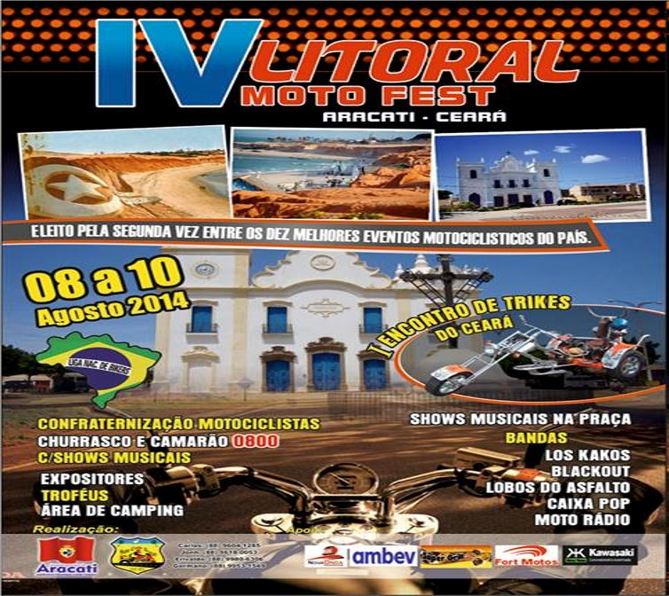 Ceará:LITORAL MOTOFEST cresce e ganha as ruas de Aracati.