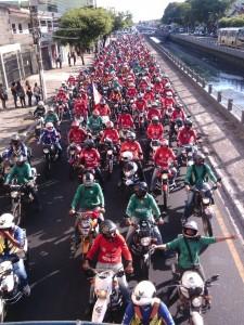Motociclistas foram os principais afetados na mobilidade.