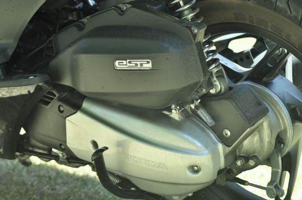 Motor com transmissão CVT.