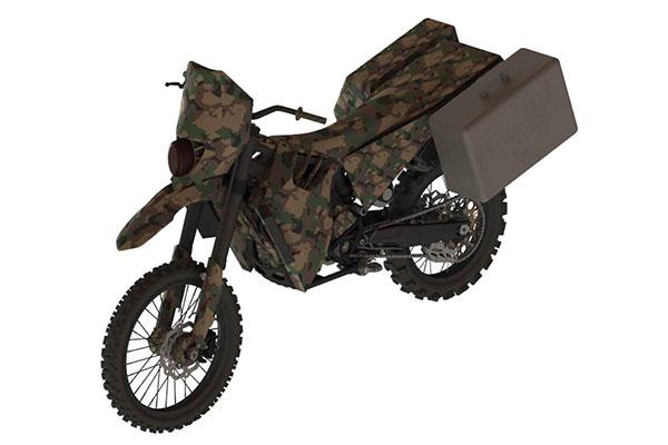 Força militar dos EUA desenvolve moto especial