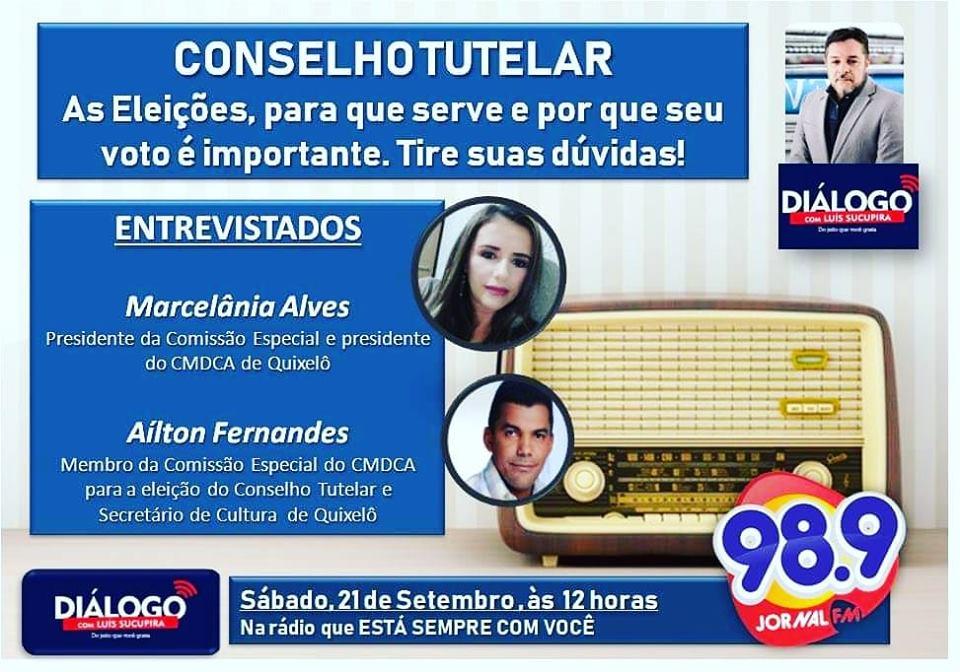 PODCAST Diálogo – Conselho Tutelar – Eleições, para que serve  e por que votar. Jornal FM 21/09/2019