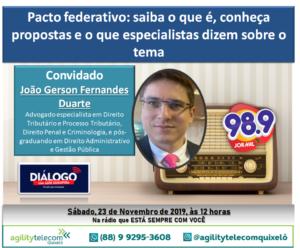 PODCAST – Pacto Federativo – Diálogo Jornal FM 98.9 PODCAST – Pacto Federativo – Diálogo Jornal FM 98.9