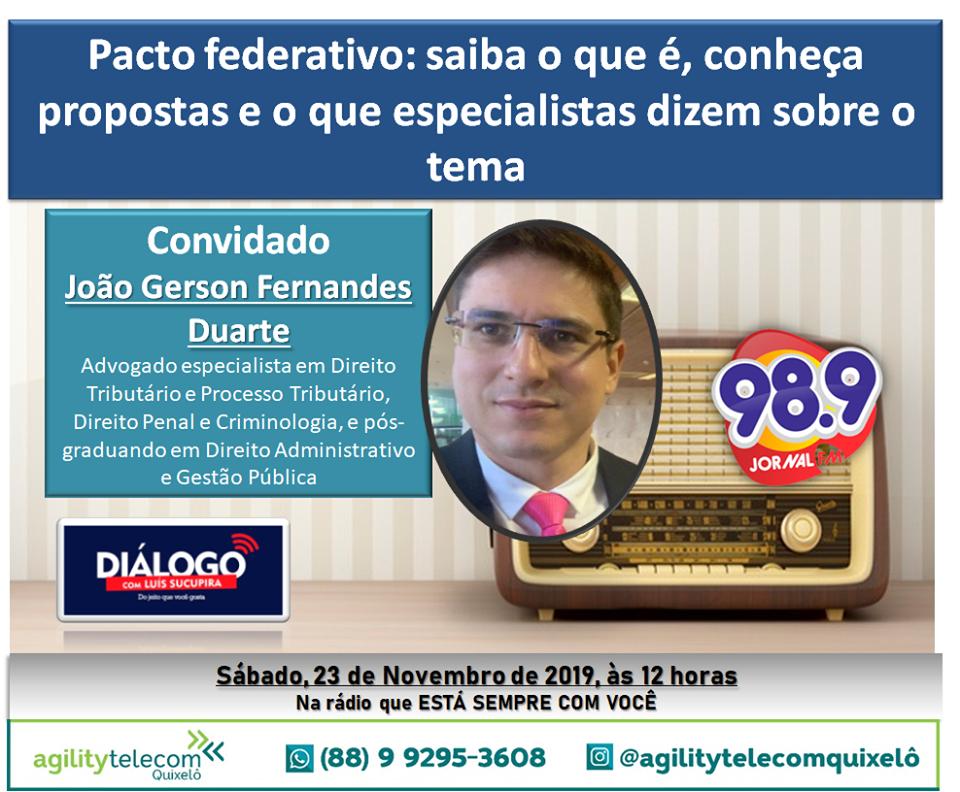 PODCAST – Pacto Federativo – Diálogo Jornal FM 98.9