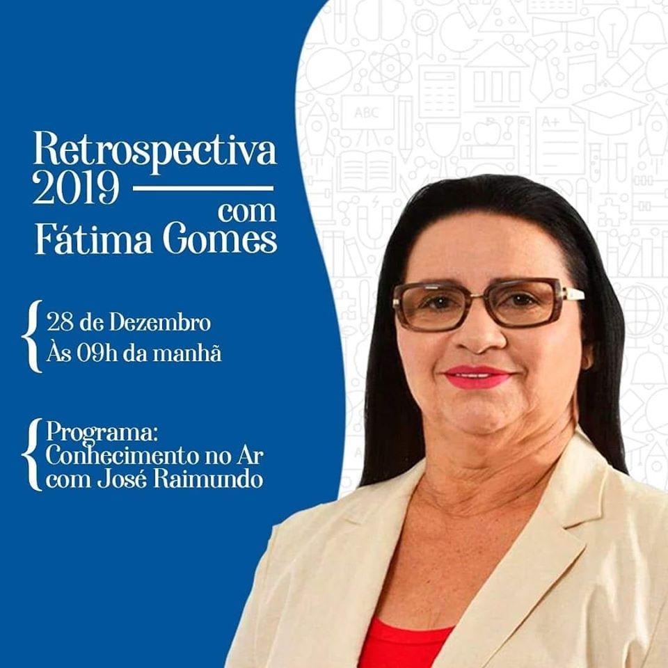 PODCAST – ENTREVISTA PREFEITA FÁTIMA GOMES – CONHECIMENTO NO AR 28/12/2019