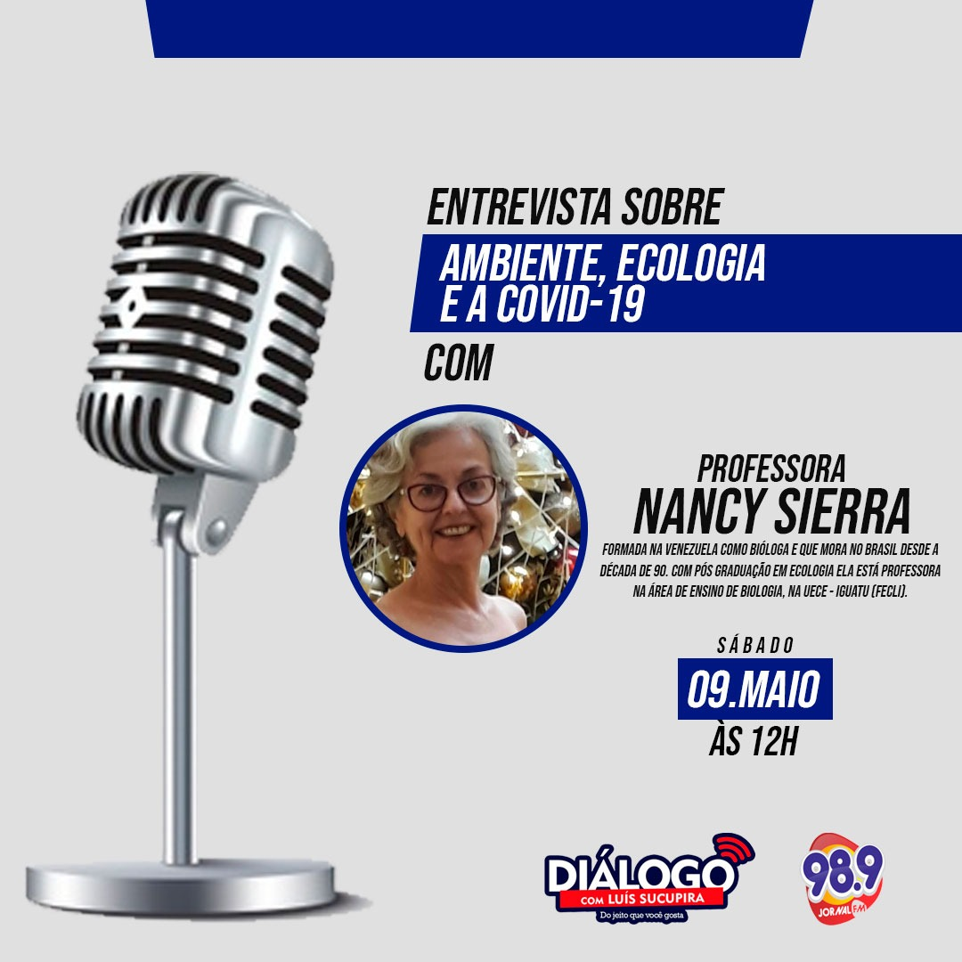 PODCAST Diálogo – Entrevista Nancy Sierra – 09/05/2020 – Jornal FM