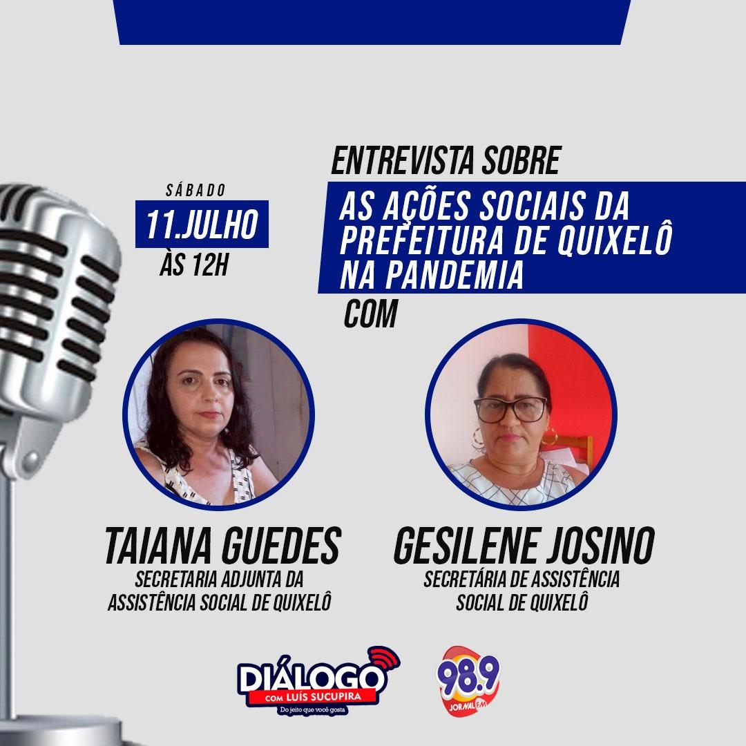 PODCAST Diálogo – As ações de assistência social de Quixelô no combate à COVID-19 e entrevista com Pedro Henrique Guedes sobre a COVID na Europa – Jornal FM 98.9