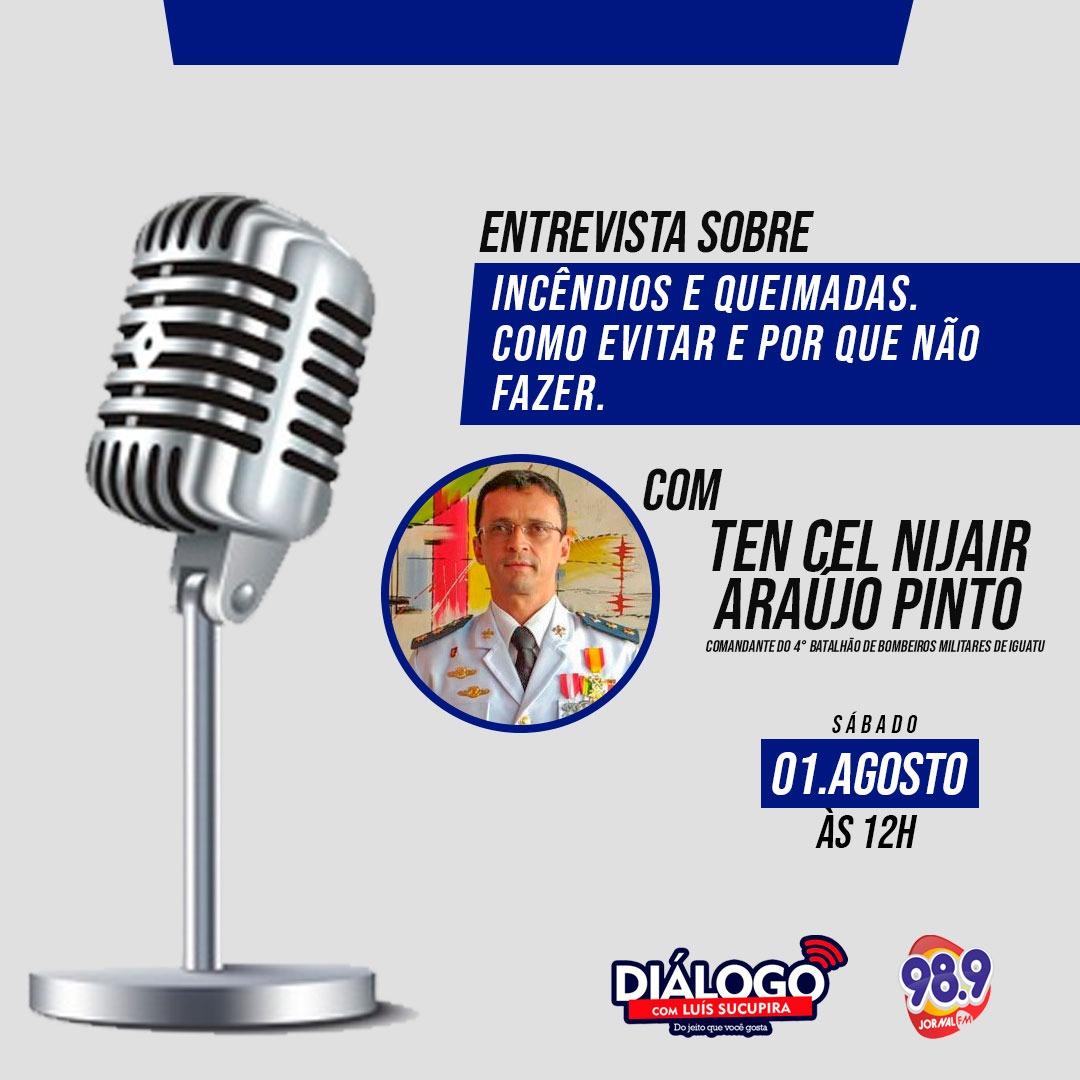 PODCAST Diálogo com o Ten.Cel Nijair do Corpo de Bombeiros – Jornal FM