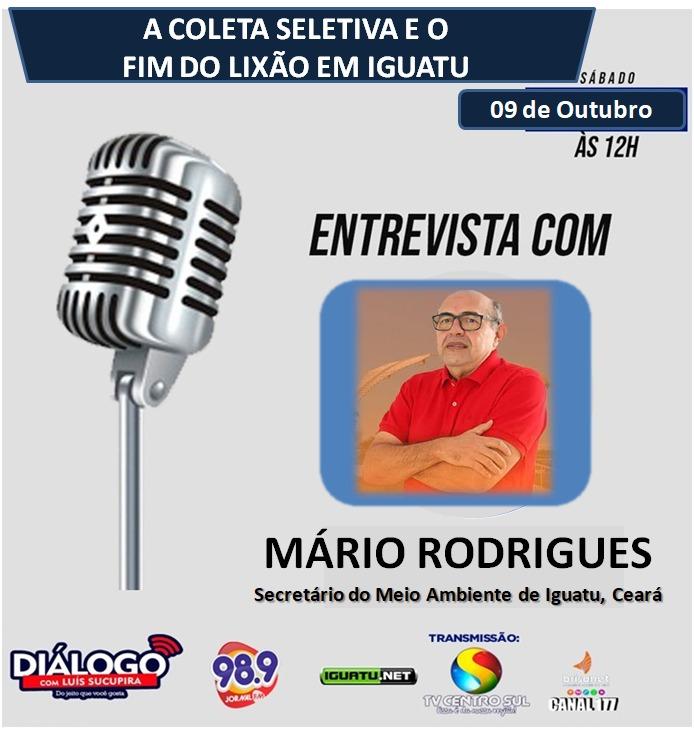 PODCAST DIÁLOGO  entrevista Mário Rodrigues, secretário do Meio Ambiente Iguatu, Ceará
